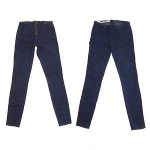 Madewell Back Zip Skinny Jeans Jegging Dark Wash